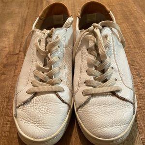 White leather Soludos sneaker